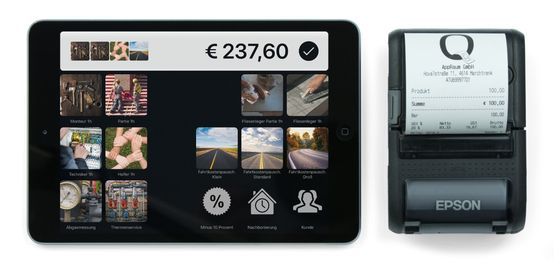 Belegdrucker Epson TM-P20 in Kombination mit dem iPad mini
